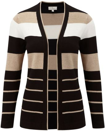 Cc Petite Stripe Edge To Edge Cardigan - Lyst