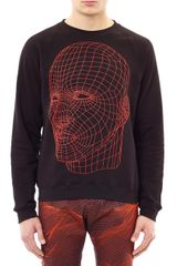 Christopher Kane Digital Headprint Sweatshirt - Lyst