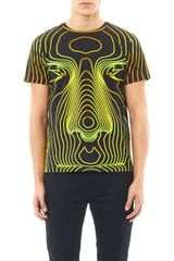 Christopher Kane Face Digitalprint Tshirt - Lyst