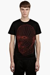 Christopher Kane Mens Black Screen Head Tshirt - Lyst