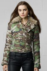 Denim & Supply Camo Moto Jacket - Lyst