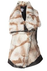 Doma Rabbit Fur Vest - Lyst