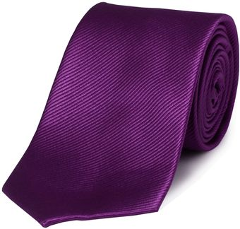Double Two Plain Silk Tie - Lyst