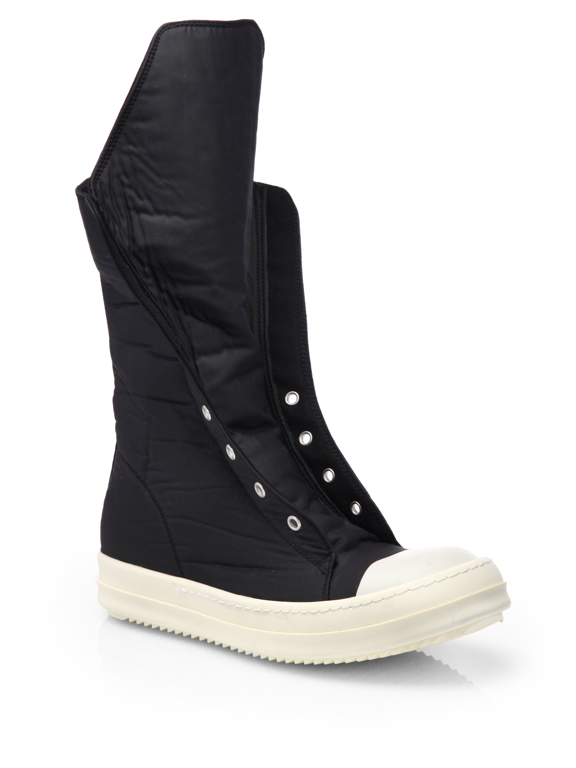 Drkshdw By Rick Owens Ramones Hightop Sneaker Boots in ...