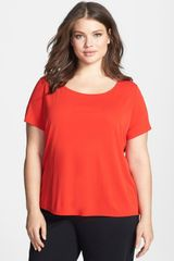 Eileen Fisher Silk Tee - Lyst