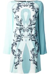 Emilio Pucci Floral Print Shift Dress - Lyst