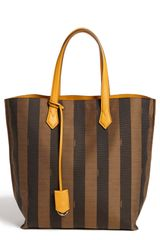 Fendi All in Pequin Logo Jacquard Shopper Tote - Lyst