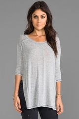 Free People Saturday Night Top in Gray - Lyst