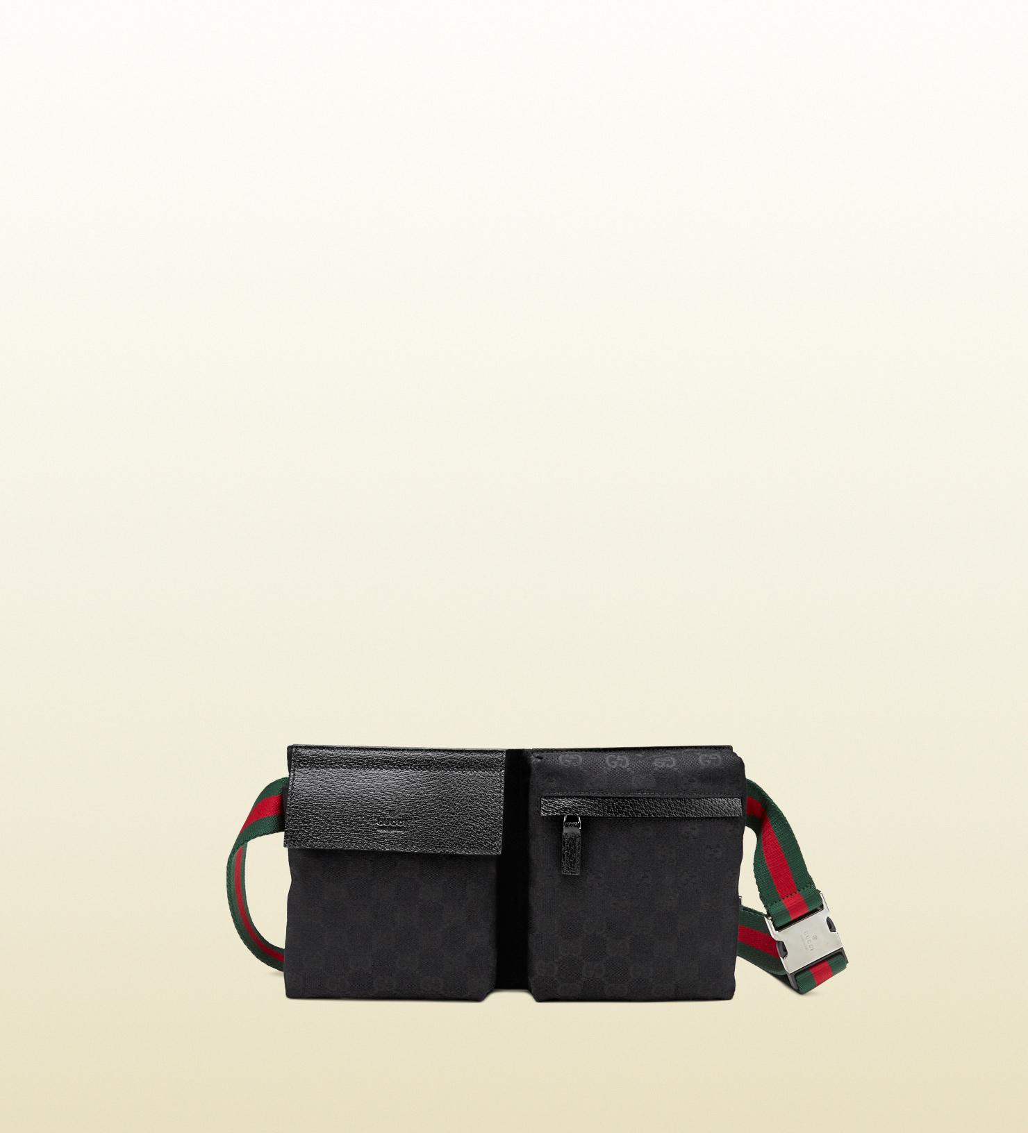 Gucci Original Gg Canvas Belt Bag In Black For Men Lyst