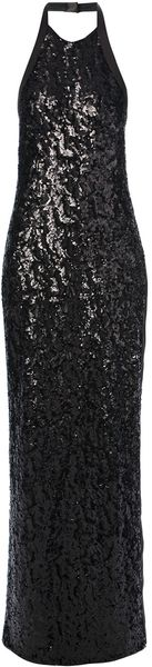 Halston Heritage Sequinned Evening Gown - Lyst