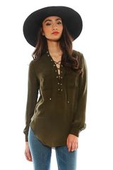 Haute Hippie Gypsy Lace Up Blouse - Lyst