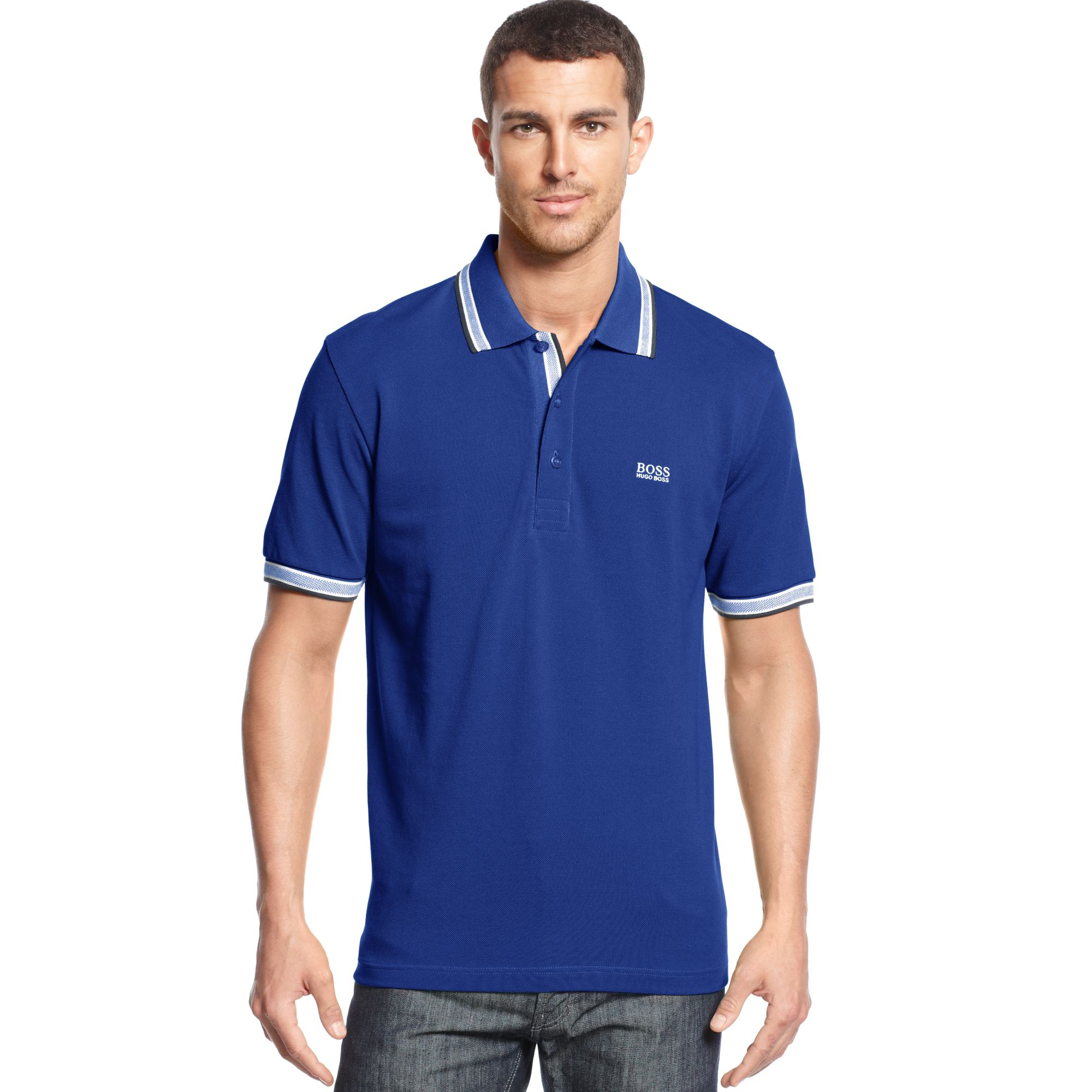 hugo boss boss green paddy polo shirt in blue for men. Black Bedroom Furniture Sets. Home Design Ideas