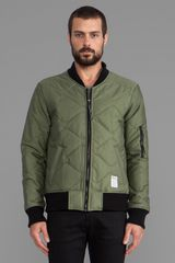 Insight Mega Hetch Bomber Jacket in Olive - Lyst