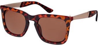 Free People Aj Morgan Square Ruff Sunglasses - Lyst