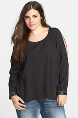 Jessica Simpson Sira Cold Shoulder Blouse - Lyst