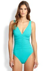 Karla Colletto Swim Onepiece Ruched Swimsuit - Lyst