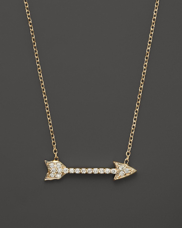 Kc Designs Small Diamond Arrow Pendant Necklace In 14k