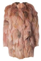 Lanvin Fox Fur Jacket - Lyst