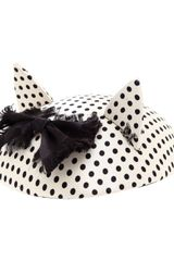 Maison Michel Polka Dot Cat Ear Fascinator - Lyst