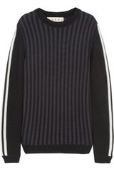 Marni Striped Cotton Sweater - Lyst