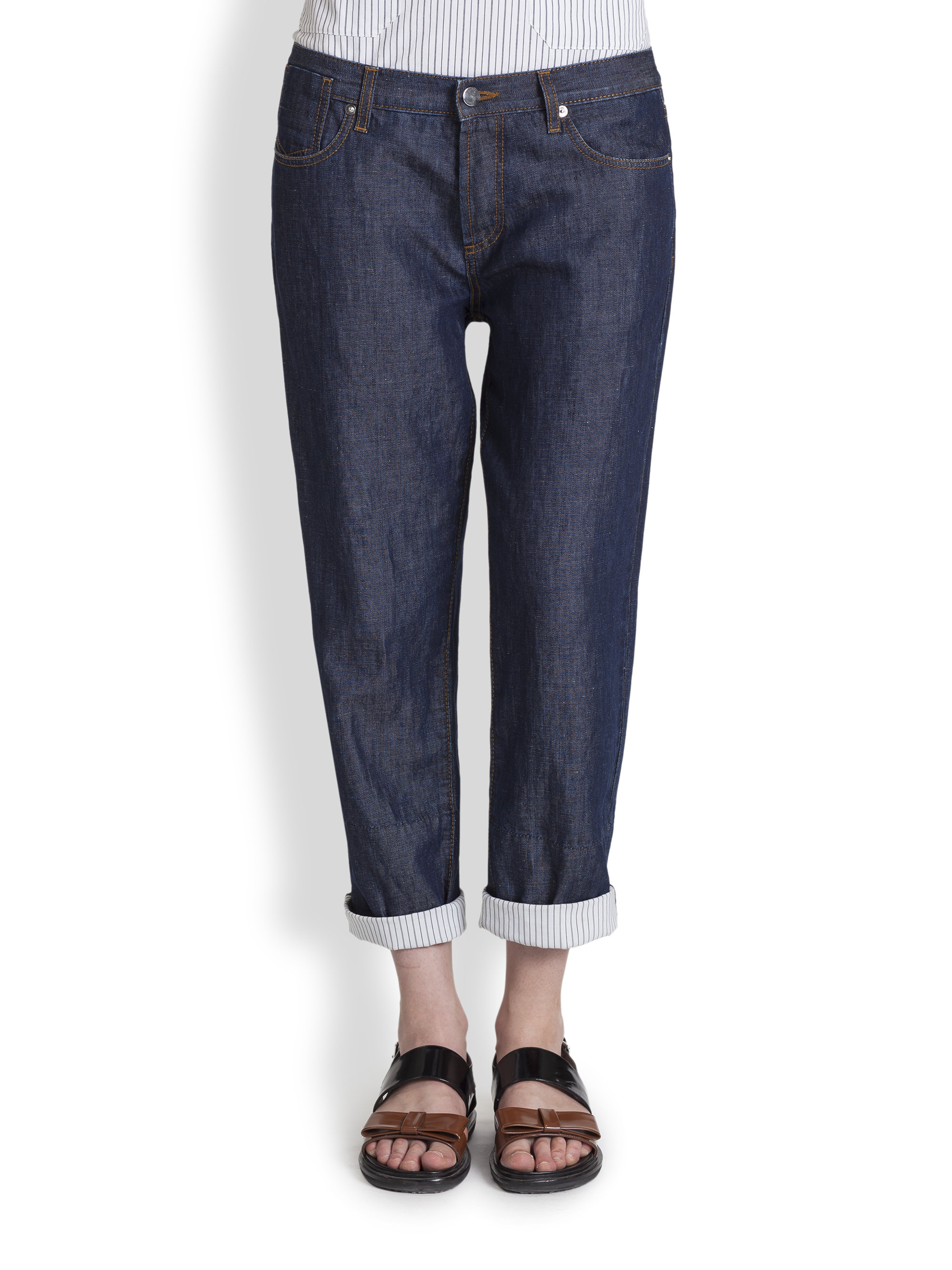Marni Denim Boyfriend Jeans in Blue | Lyst