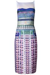 Mary Katrantzou Mixed Print Cocktail Dress - Lyst
