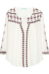 Melissa Odabash Milly Embroidered Voile Kaftan - Lyst