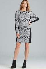 Michael by Michael Kors Blocked Long Sleeve Dress - Lyst