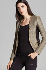 Michael by Michael Kors Tweed Ponte Mix Blazer - Lyst