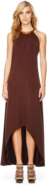 Michael Kors Michael Plateneck Maxi Dress - Lyst