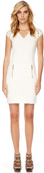 Michael Kors Michael Stud Shoulder Ponte Dress - Lyst