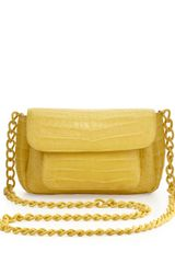 Nancy Gonzalez Crocodile Compartmentalized Mini Crossbody Bag Yellow - Lyst