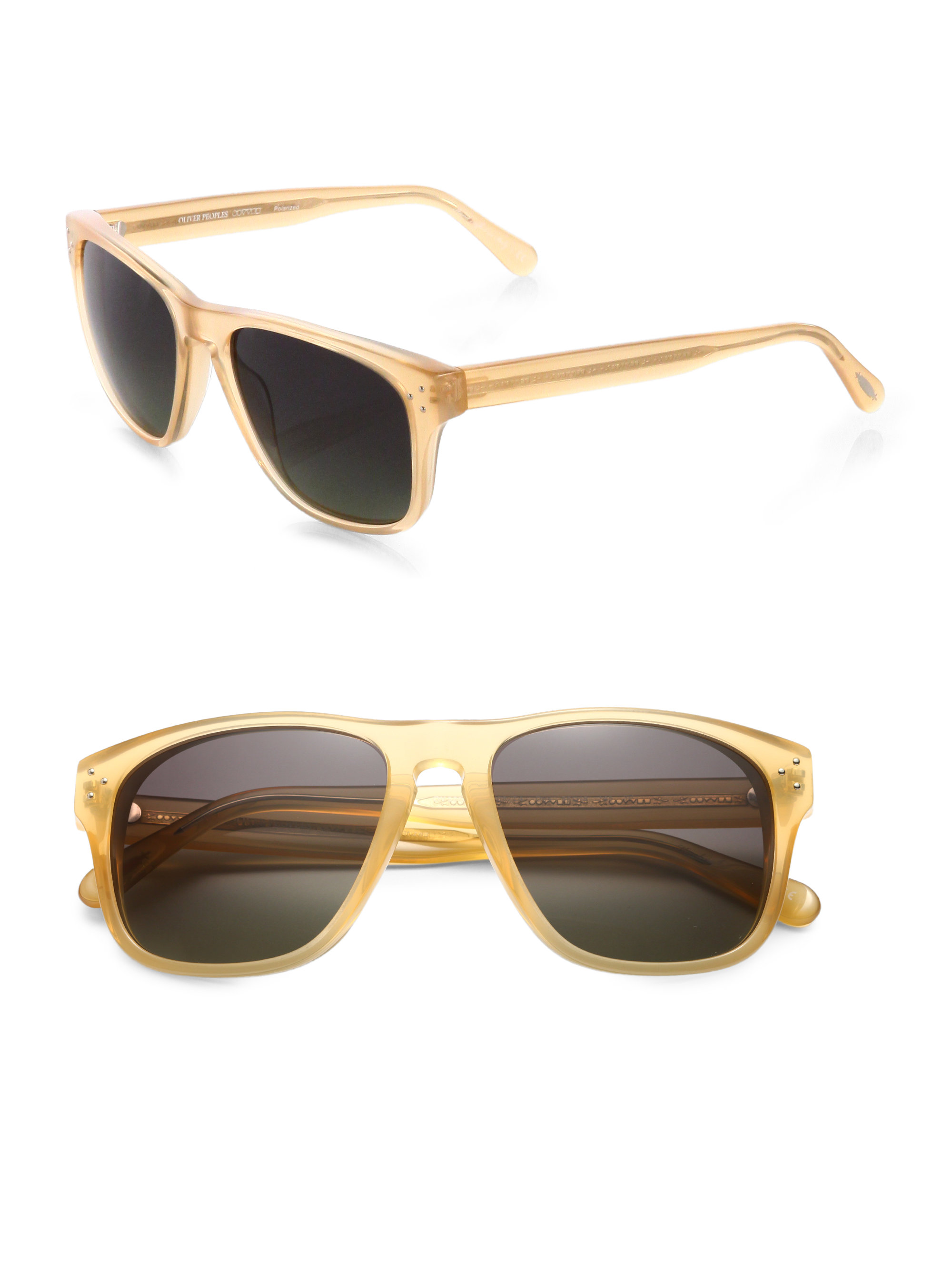0112ded55c4 Oliver Peoples Oversized Acetate Sunglasses in Natural for Men - Lyst
