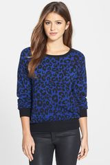 Olivia Moon Animal Print Pullover - Lyst