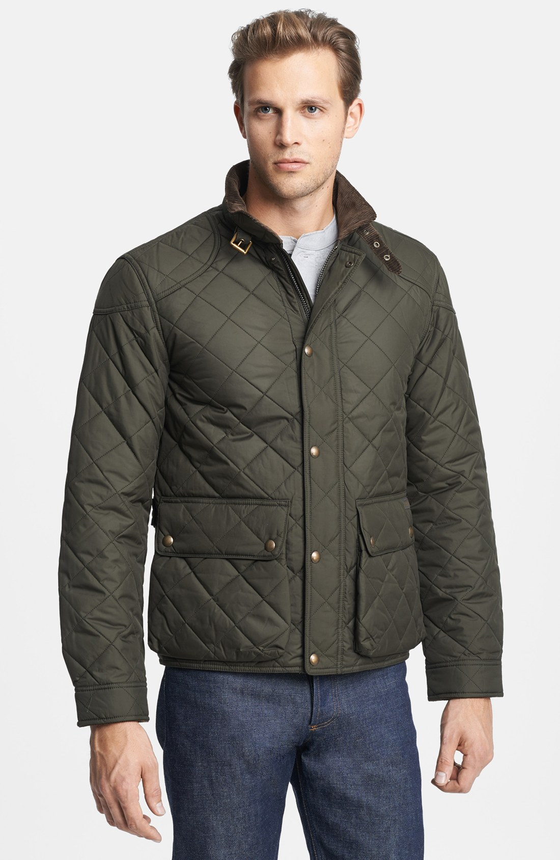 Polo ralph lauren Cadwell Quilted Bomber Jacket in Green for Men ...