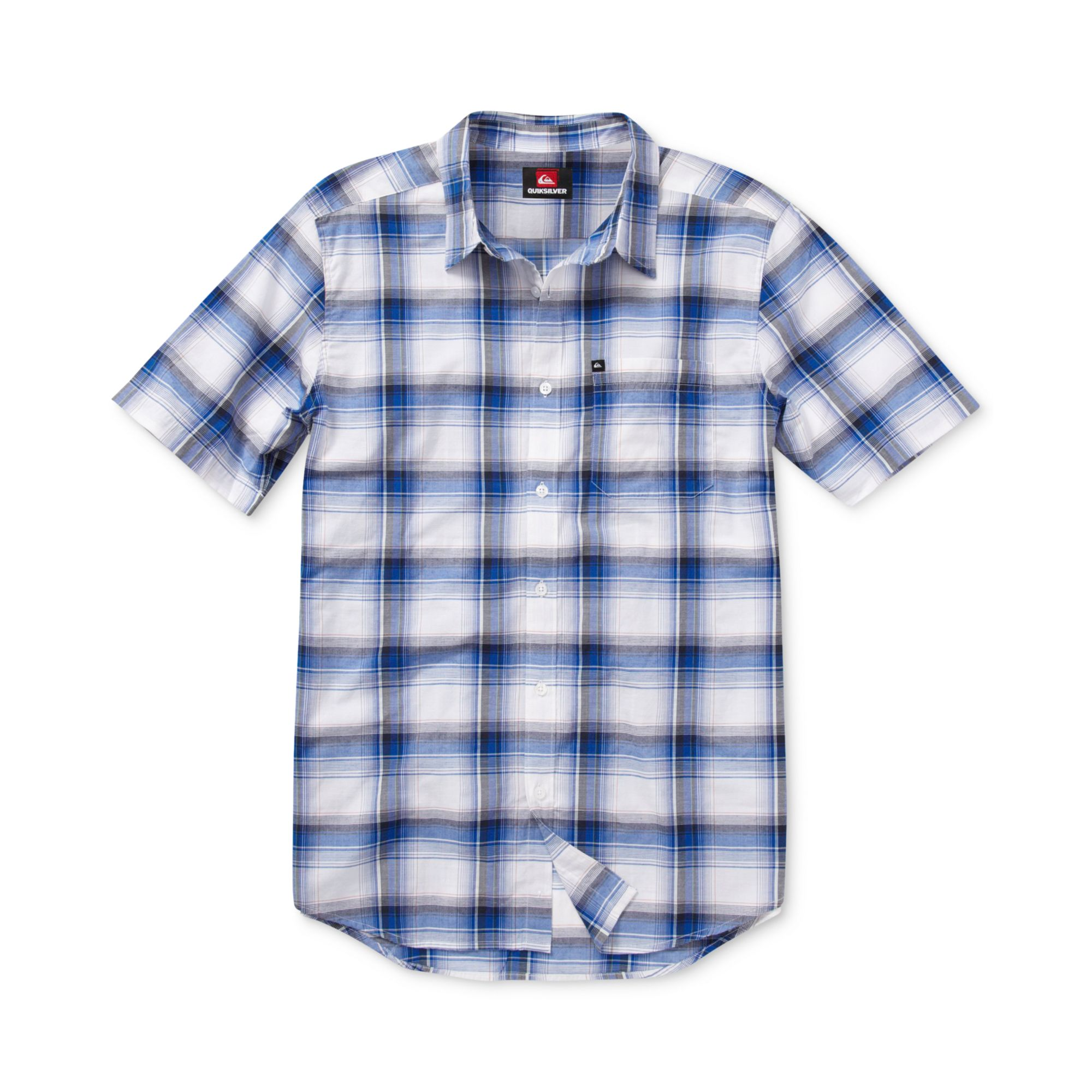 Quiksilver Surf Pat Short Sleeve Plaid Shirt In White For