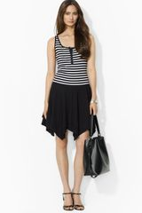 Ralph Lauren Lauren Sleeveless Henley Dress - Lyst