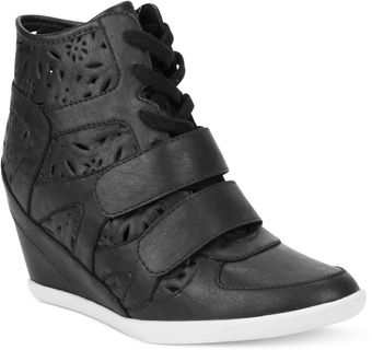 Rampage Sugar Hydrolic Perforated Wedge Sneakers - Lyst
