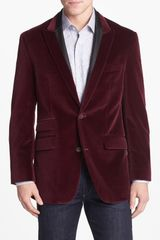 Robert Graham Finfolk Peak Lapel Cotton Velvet Sportcoat - Lyst