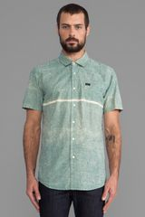 RVCA Resistance Button Down in Green - Lyst
