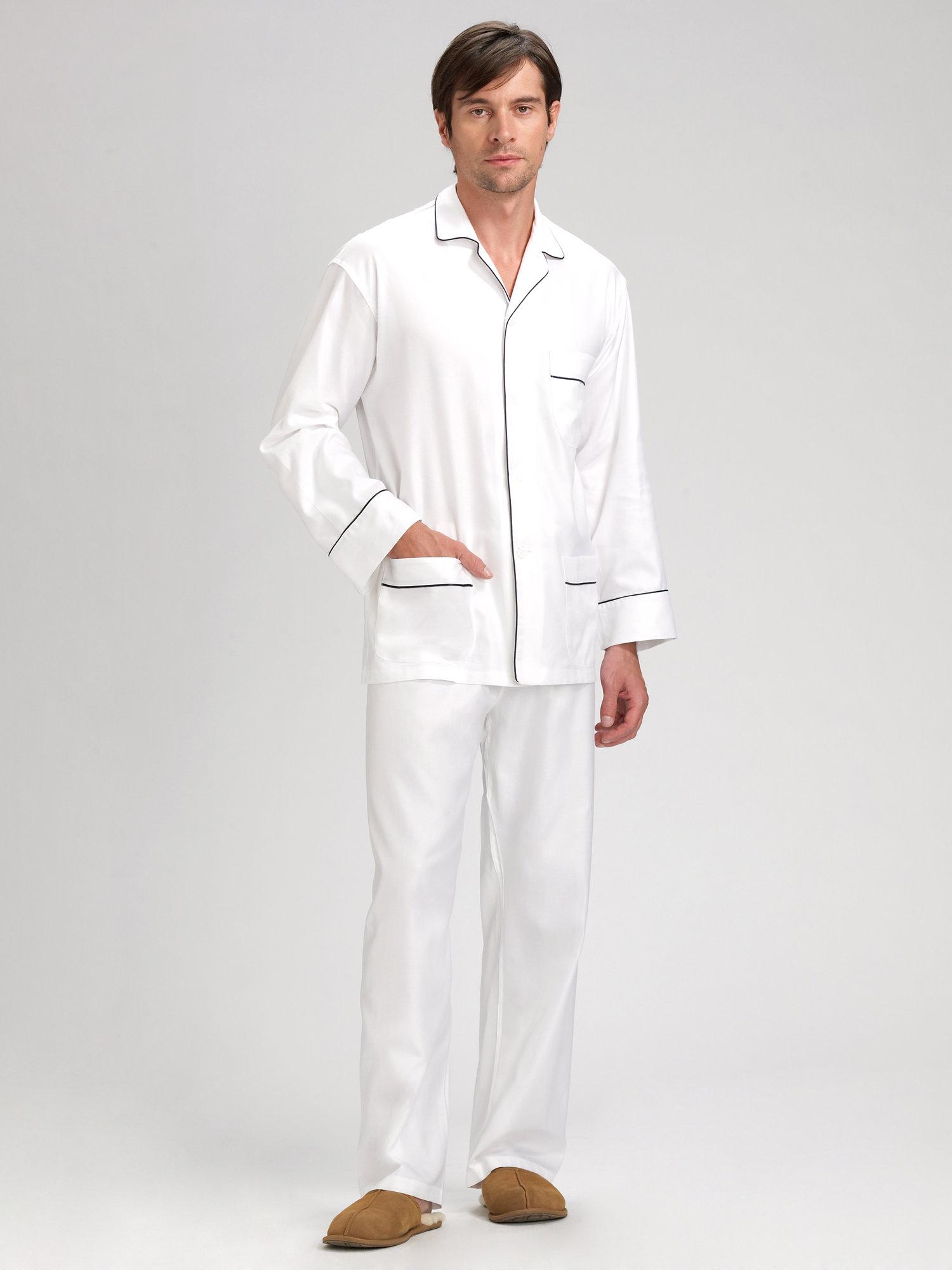 Lyst Saks Fifth Avenue Black Label Twill Cotton Pajama