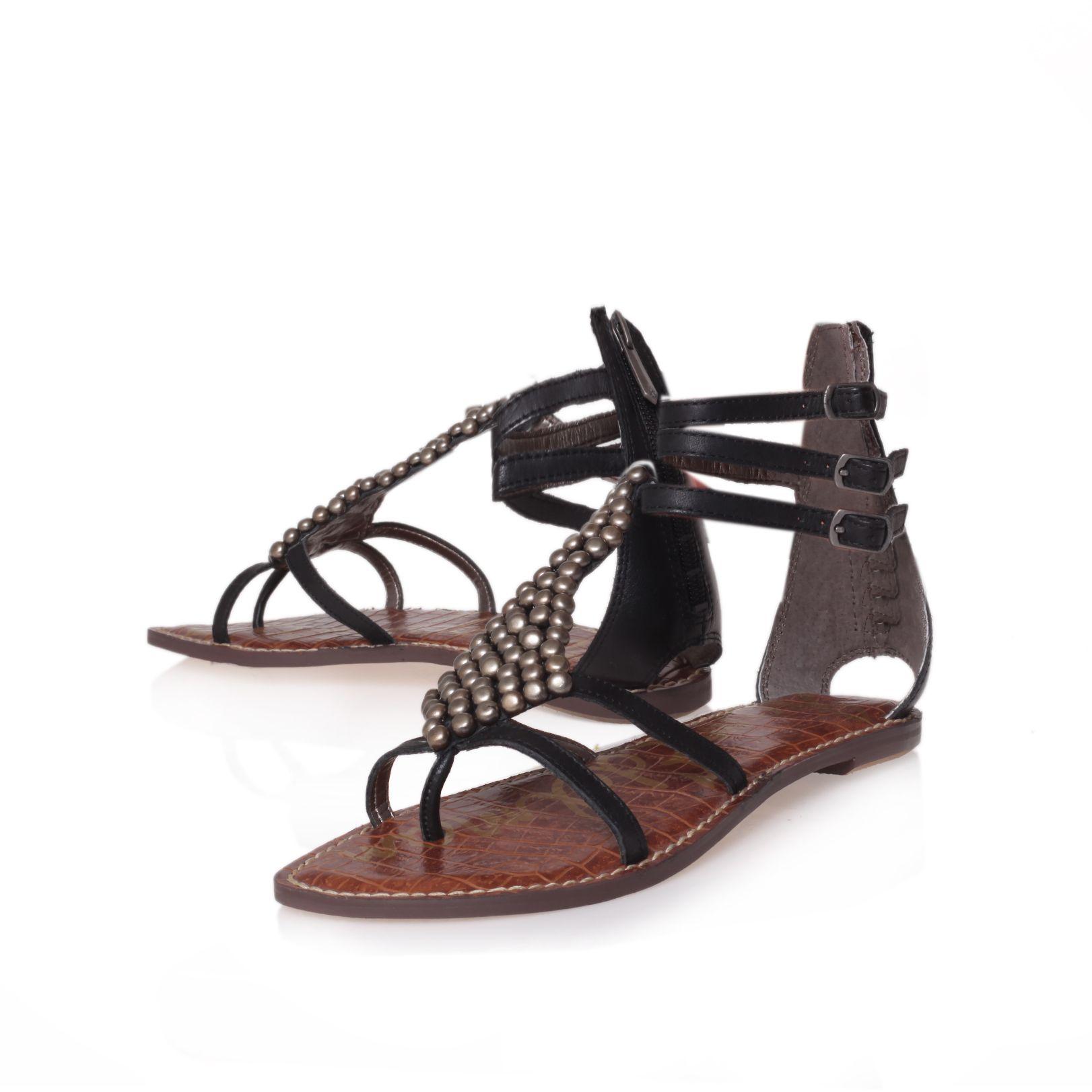 Marc Fisher Beca 2 Women Leather Black Wedge Sandal Wedges