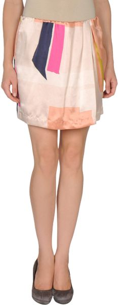 See By Chloé Mini Skirt in Pink - Lyst