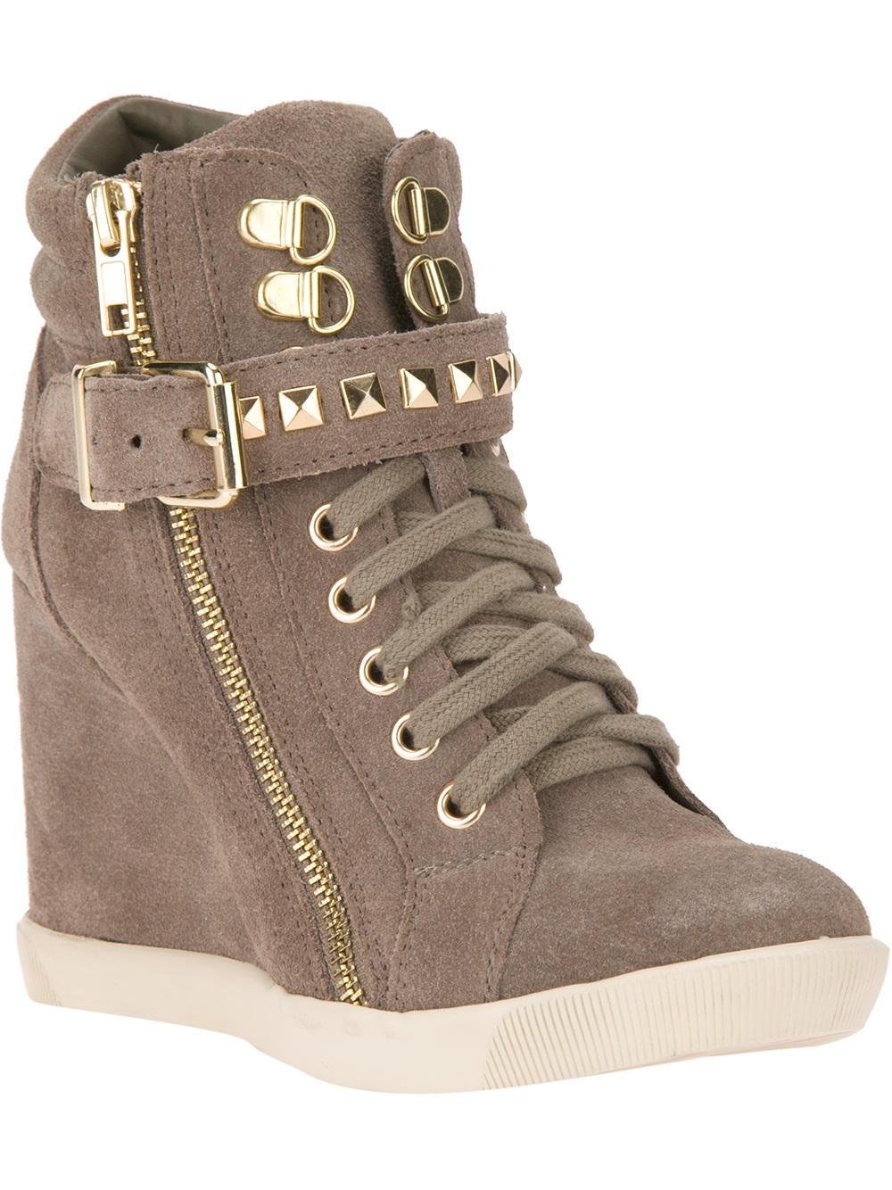 Lyst Steve Madden Obsess Wedge Sneaker In Brown
