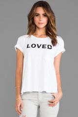 Textile Elizabeth And James Love Bowery Tee in White - Lyst