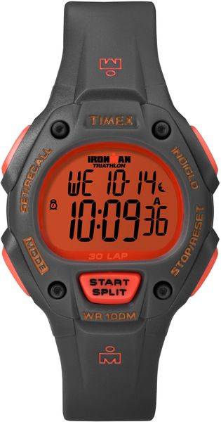 Timex® Unisex Digital Ironman 30 Lap Gray Resin Strap Watch 38mm T5k764um - Lyst