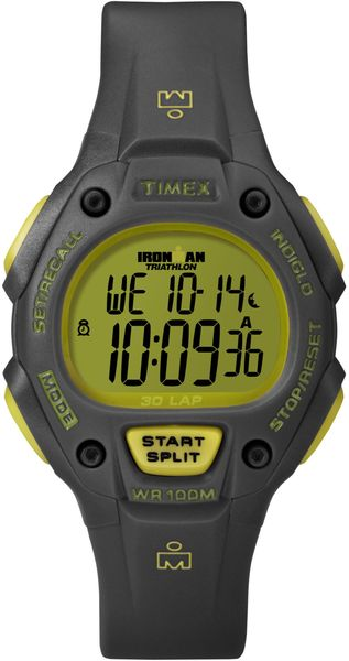 Timex® Unisex Digital Ironman 30 Lap Gray Resin Strap Watch 38mm T5k765um - Lyst