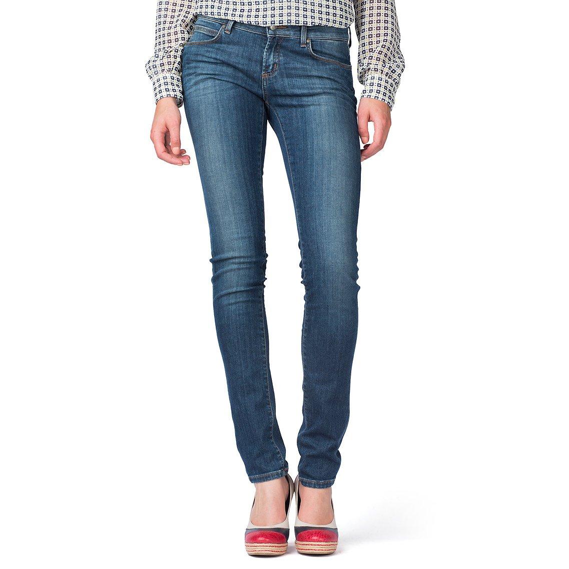 tommy hilfiger milan skinny jeans in blue willow lyst. Black Bedroom Furniture Sets. Home Design Ideas