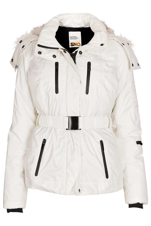 ce95c63960b6 TOPSHOP Sno Padded Ski Jacket in White - Lyst