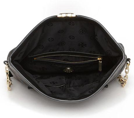 Tory Burch Sammy Foldover Messenger Bag In Black Lyst